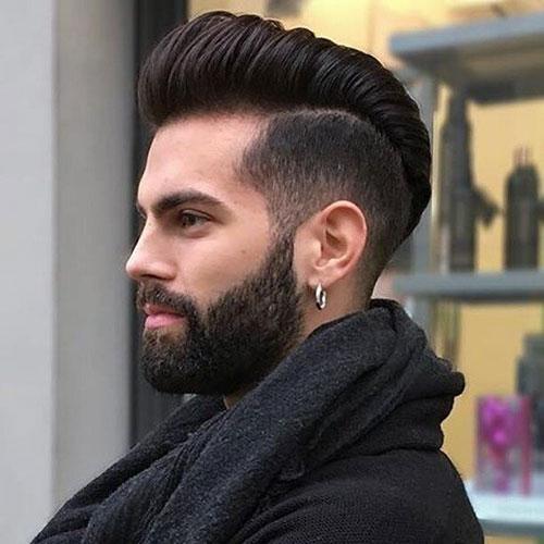 pompadour with beard 20