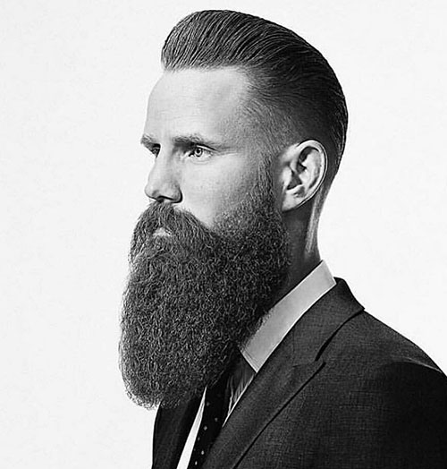 pompadour with beard 32