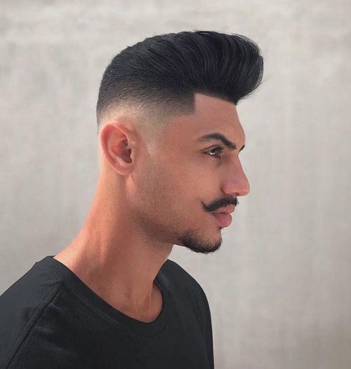 pompadour with beard 36