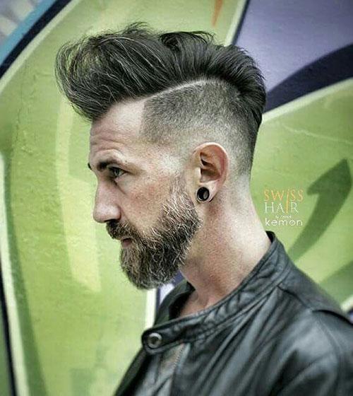 pompadour with beard 7