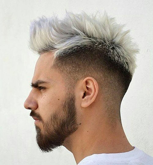 blonde spiky drop fade