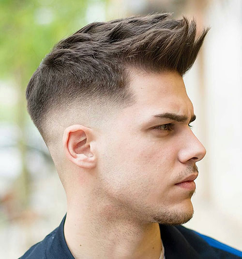 spiky quiff witgh low fade 522