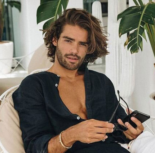 wavy hairstyles for men 140