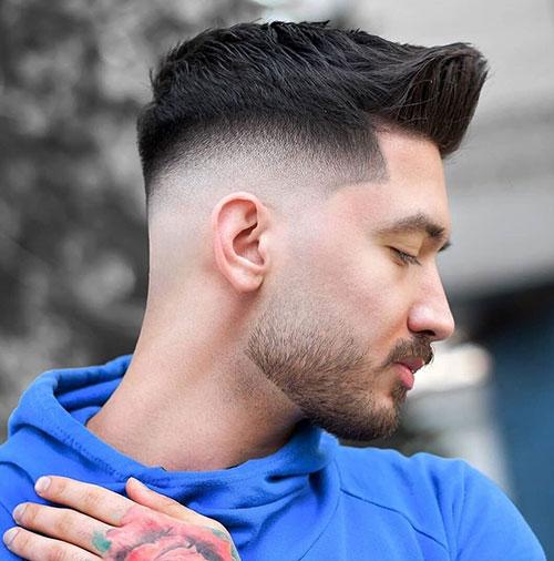 mid fade haircut 129