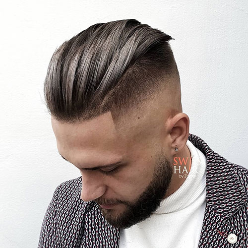 slicked back hairstyles 1