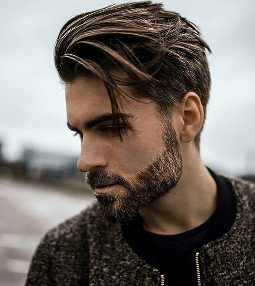 slicked back hairstyles for men 1