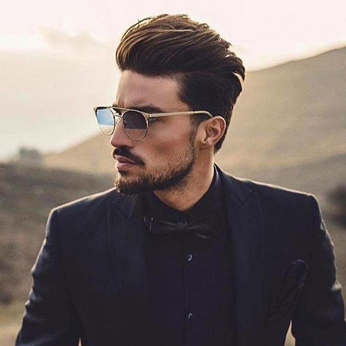slicked back hairstyles for men 10
