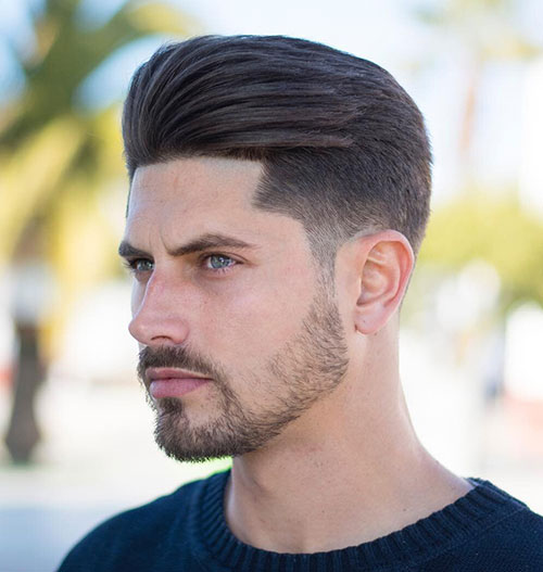 slicked back hairstyles for men 14