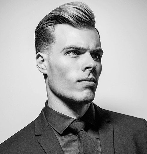 slicked back hairstyles for men 17