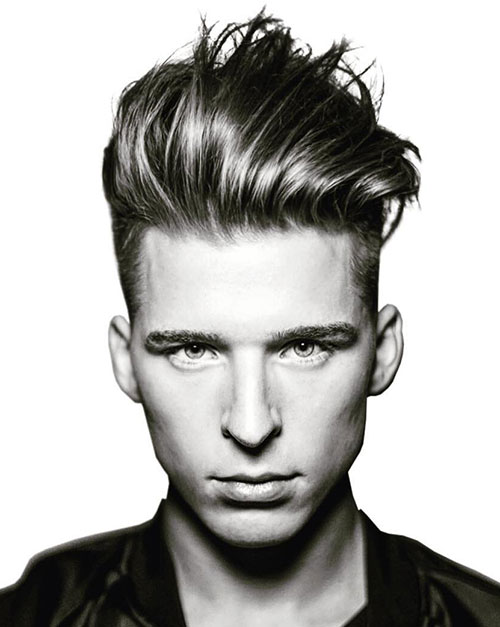 slicked back hairstyles for men 18