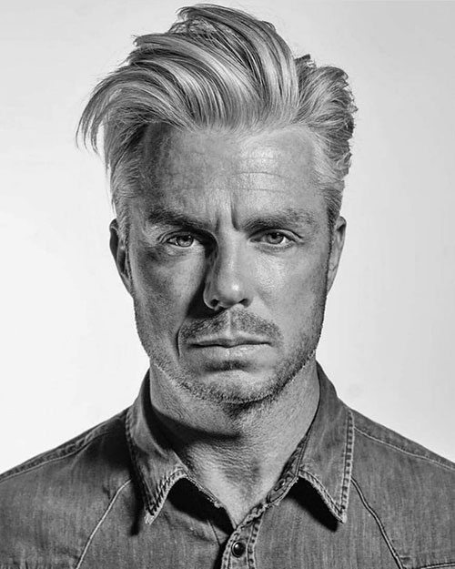 slicked back hairstyles for men 22