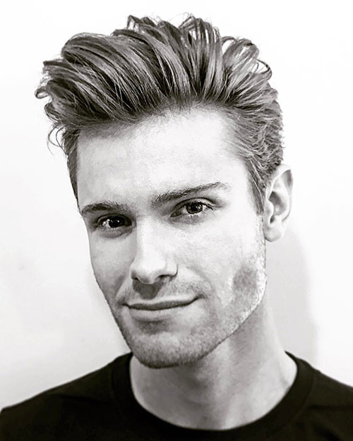 slicked back hairstyles for men 23