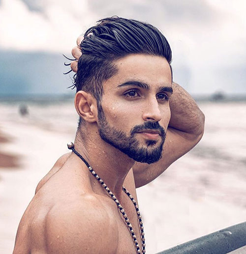 slicked back hairstyles for men 25