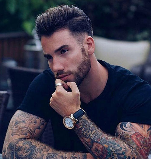 slicked back hairstyles for men 5