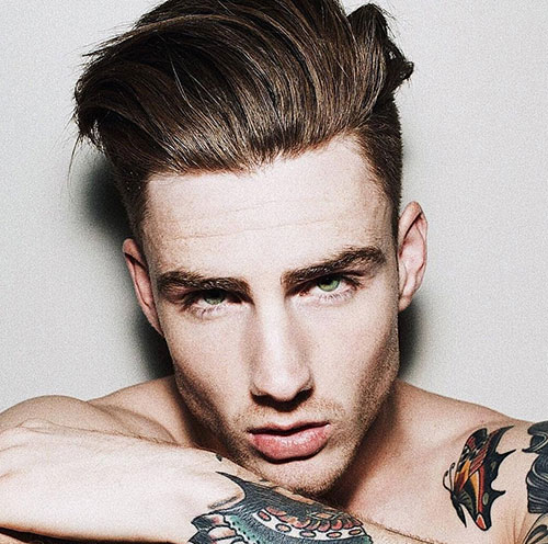 slicked back hairstyles for men 9
