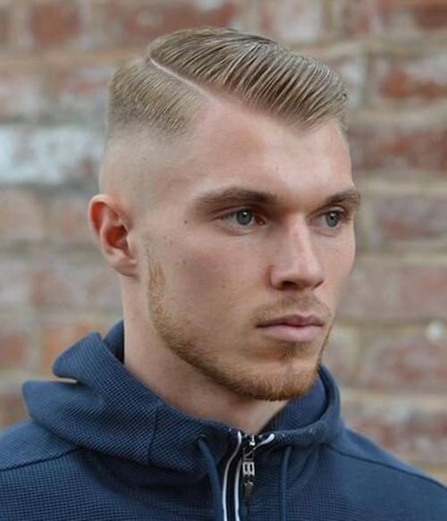 side part haircut 1