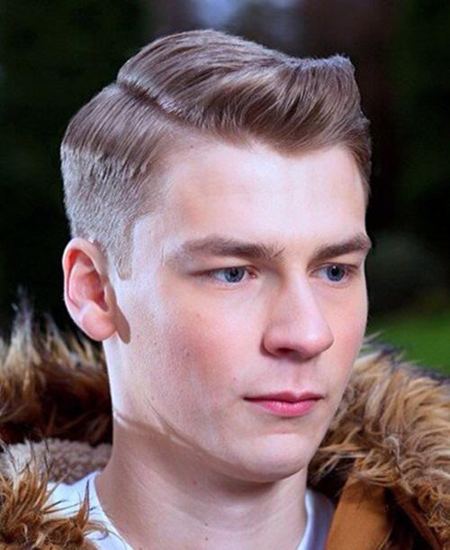 side part haircut 11