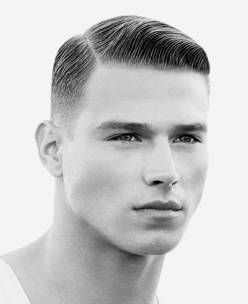 side part haircut 12