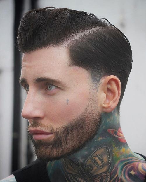 side part haircut 13
