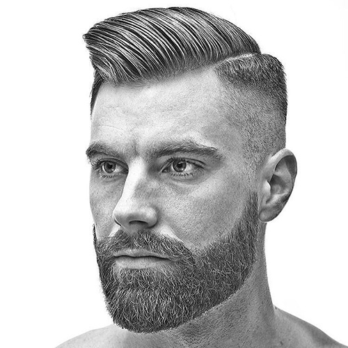 side part haircut 19