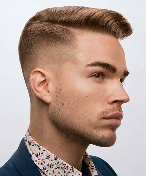side part haircut 25