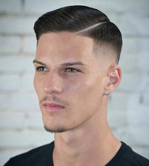 side part haircut 26