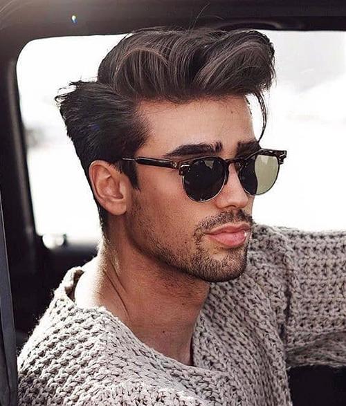 side part haircut 27