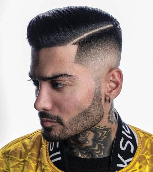 side part haircut 28