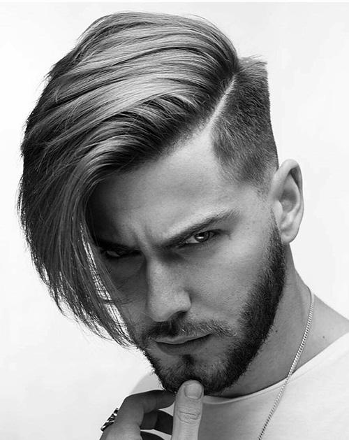 side part haircut 29