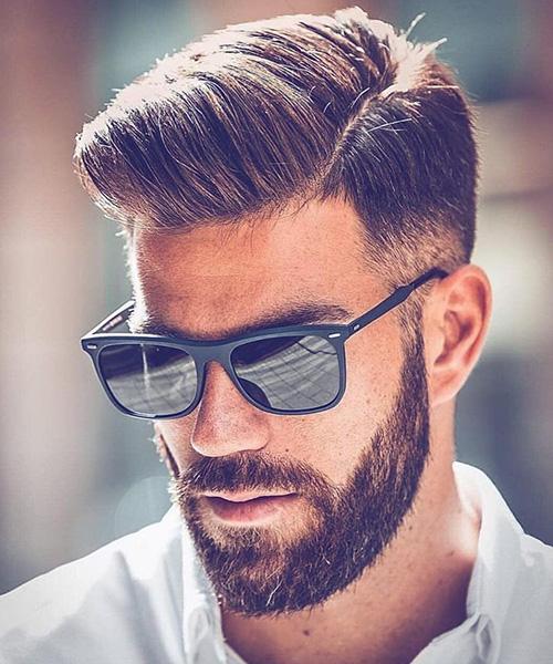 side part haircut 32