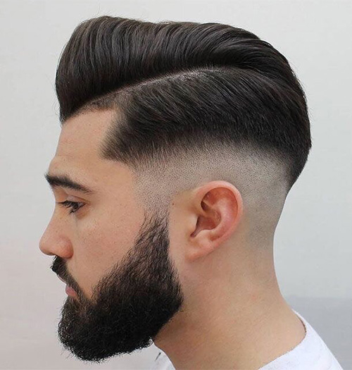 side part haircut 33