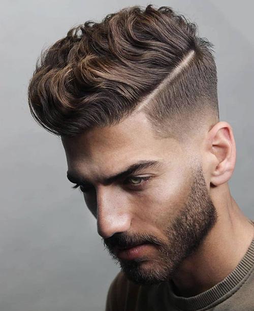 side part haircut 34