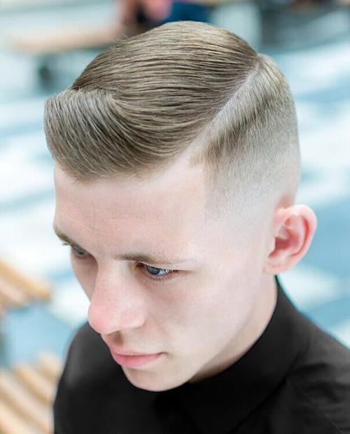 side part haircut 35
