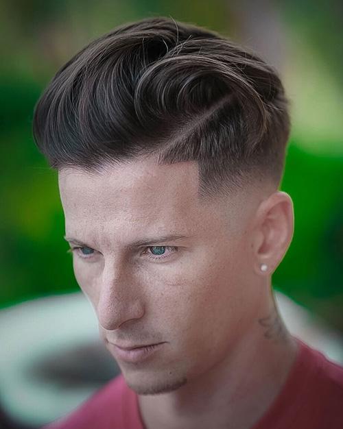 side part haircut 37