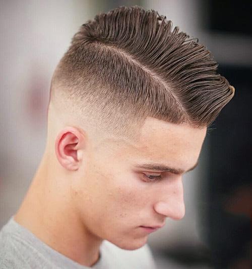 side part haircut 38