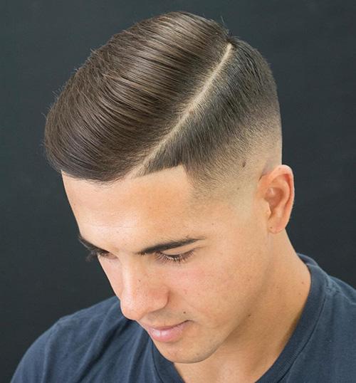 side part haircut 41