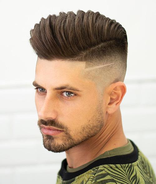 side part haircut 42