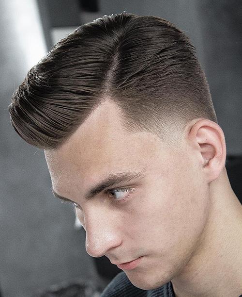 side part haircut 43