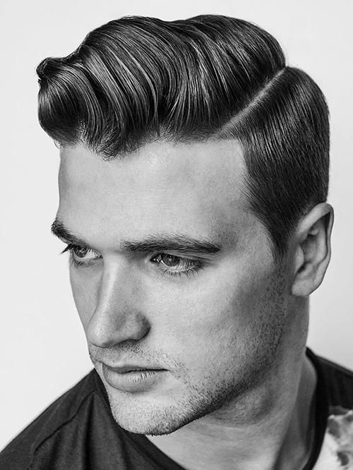 side part haircut 44