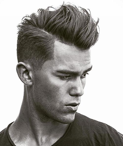 side part haircut 45