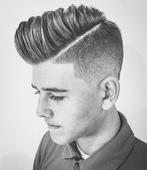 side part haircut 46