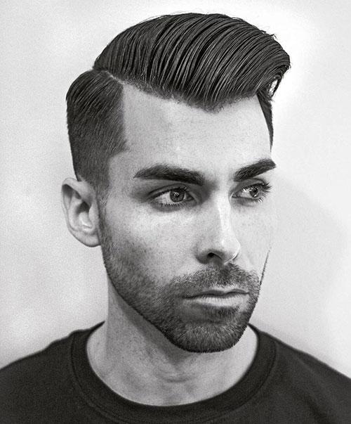 side part haircut 47