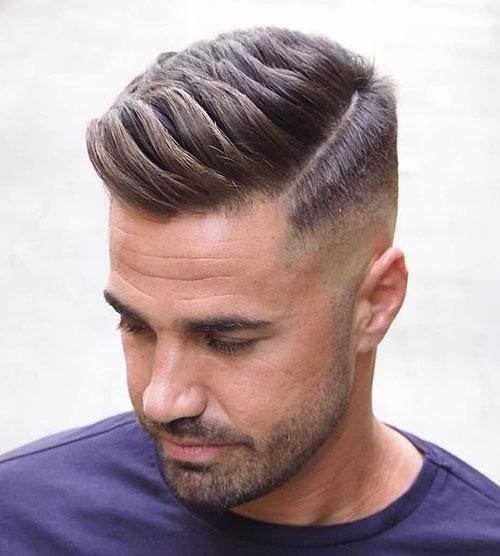 side part haircut 51