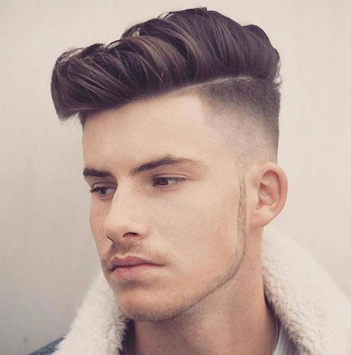 side part haircut 53