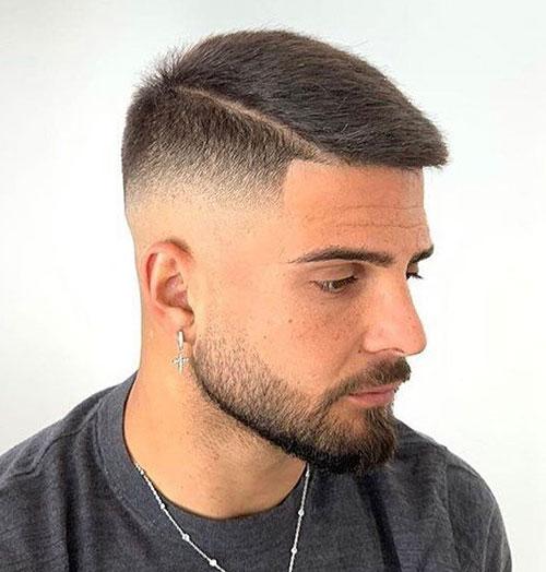 side part haircut 56