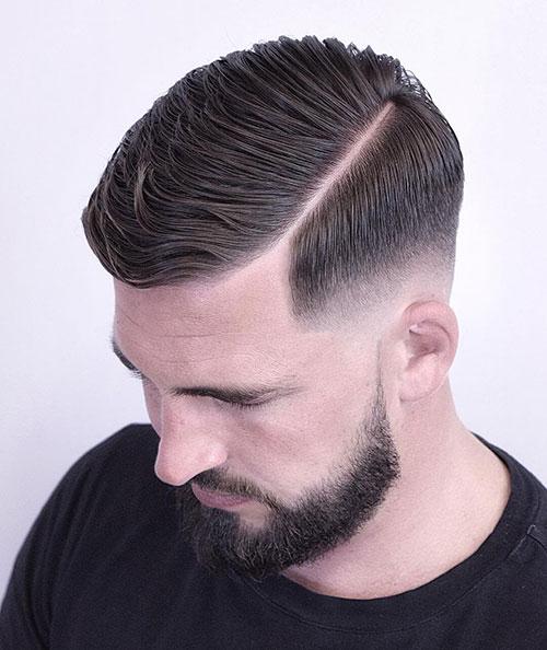 side part haircut 57