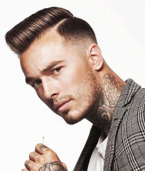 side part haircut 60