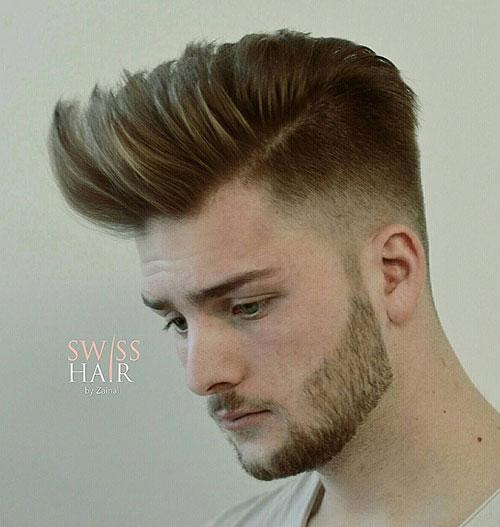side part haircut 62