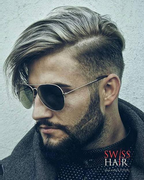 side part haircut 63