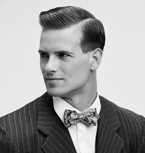 side part haircut 66